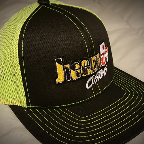 black neon yellow hat jigged up unlimited